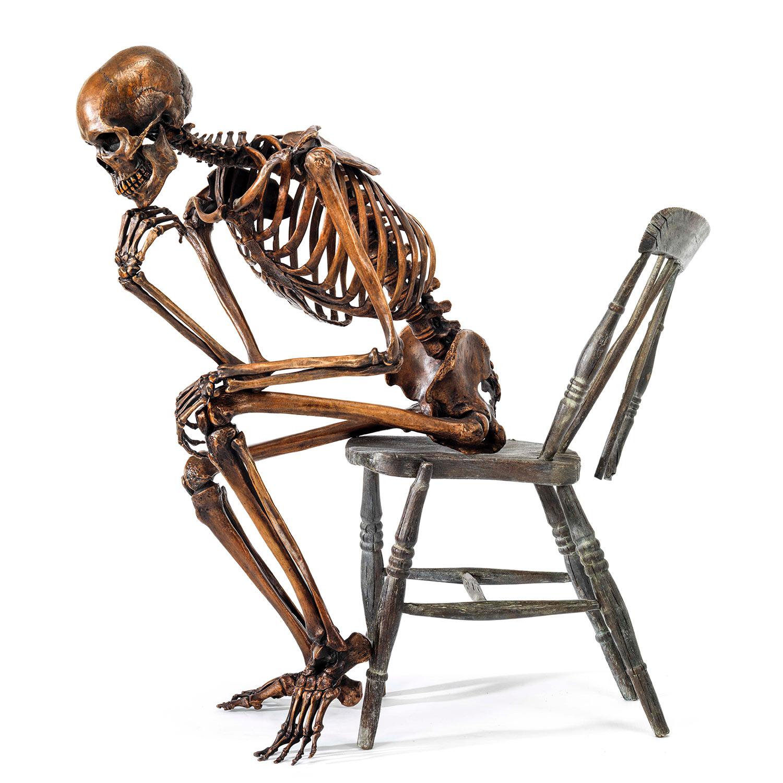 life size bronze fine art perfect investment skeleton rodin thinker