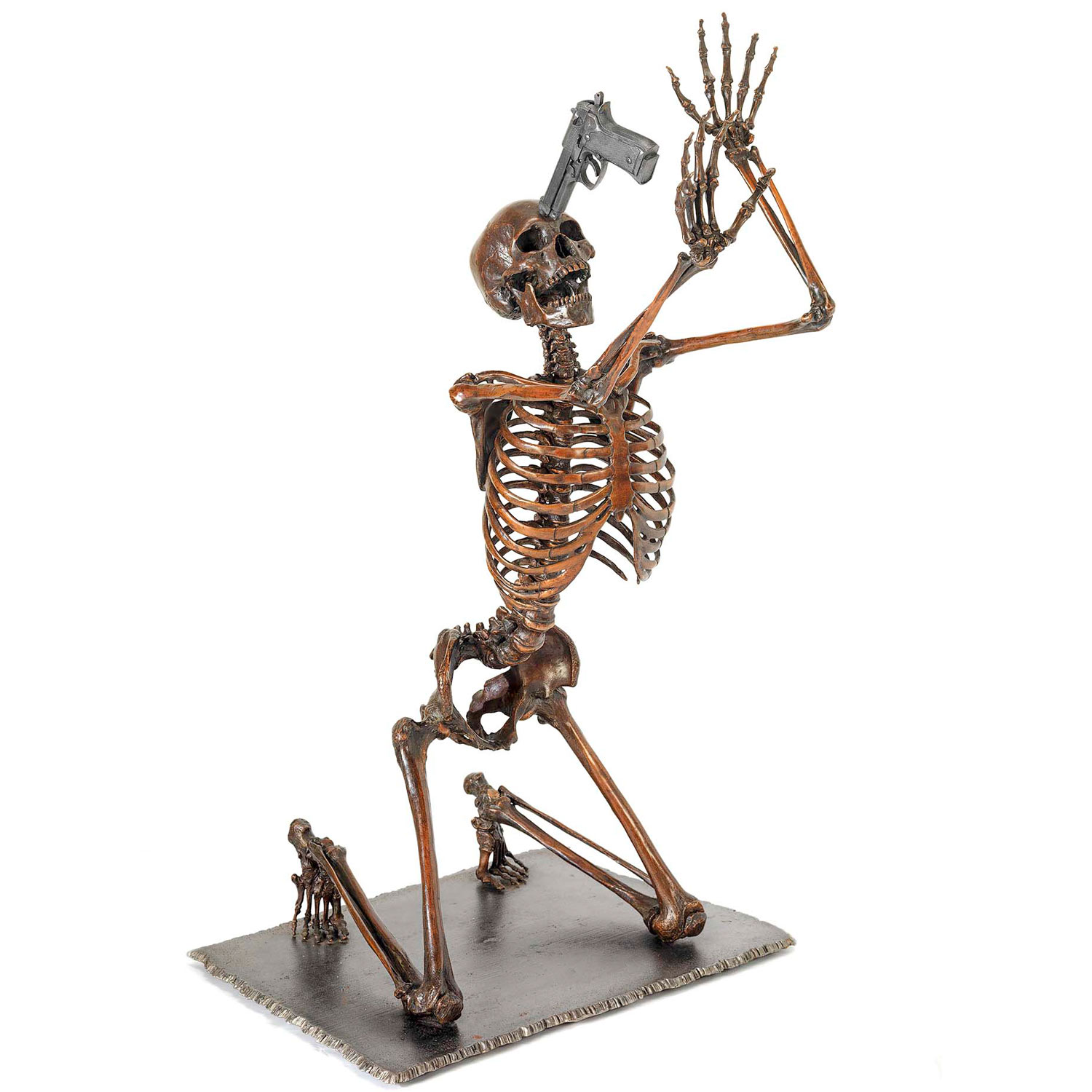 life size bronze fine art perfect investment skeleton