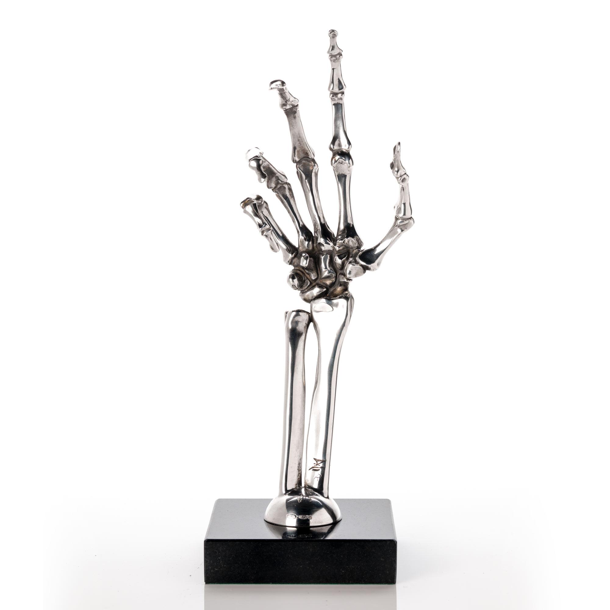 stirling silver skeleton hand
