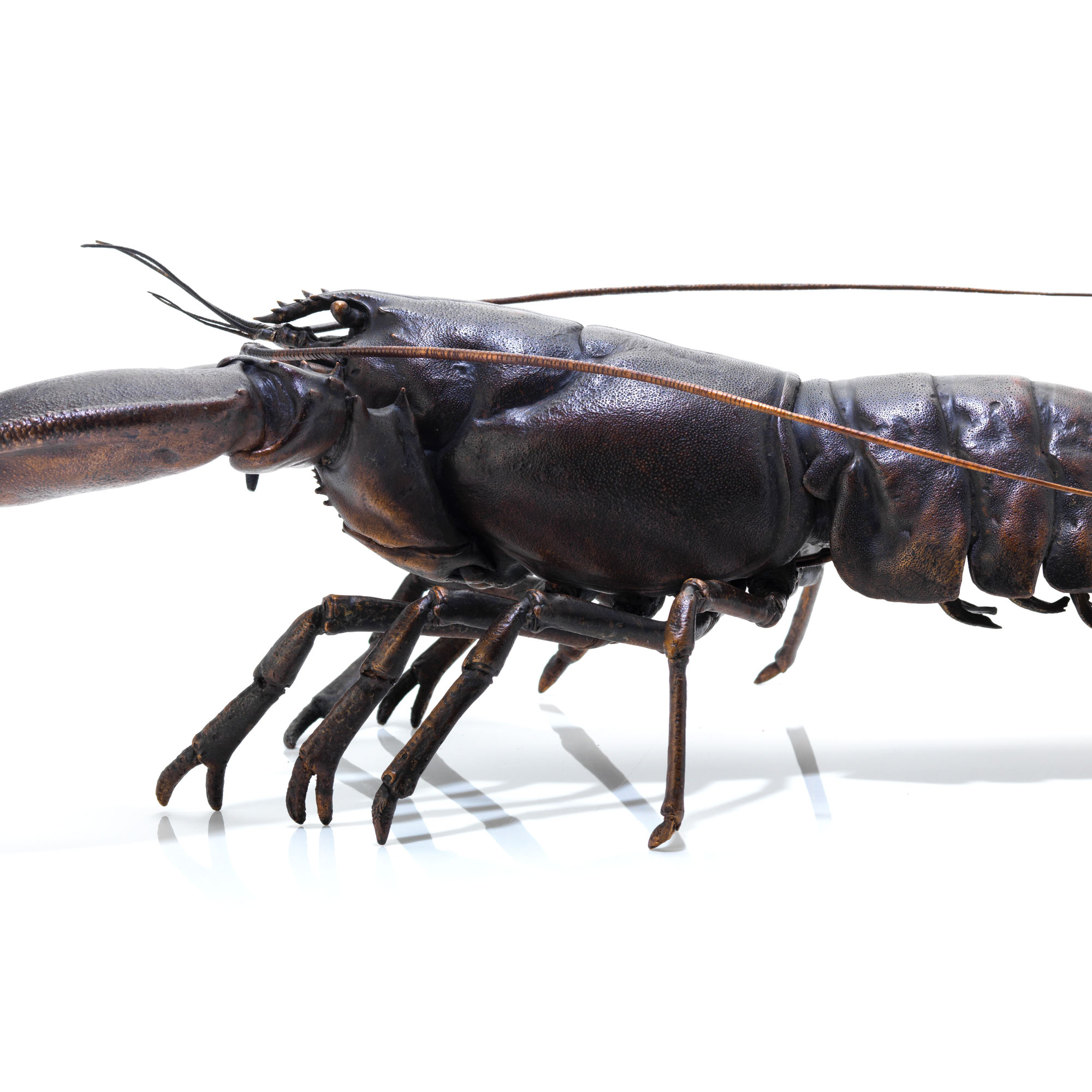 fine art bronze lobster